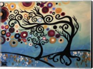 Tree Whimsy On Blue Fine-Art Print