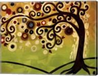 Black And Cream Tree Swirl Fine-Art Print