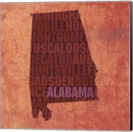 Alabama State Words Fine-Art Print
