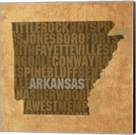 Arkansas State Words Fine-Art Print