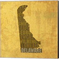 Delaware State Words Fine-Art Print