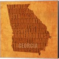 Georgia State Words Fine-Art Print