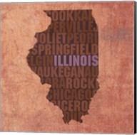 Illinois State Words Fine-Art Print
