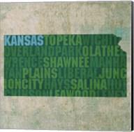 Kansas State Words Fine-Art Print
