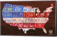 USA Flag Map Fine-Art Print