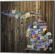 Michigan Counties License Plate Fine-Art Print