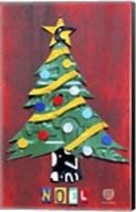 Noel Christmas Tree License Plate Art Fine-Art Print