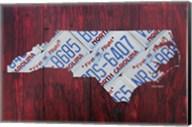 North Carolina License Plate Map Fine-Art Print