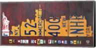 NYC License Plate Art Skyline 911 Version Fine-Art Print