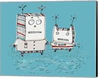 Robots On Beach Fine-Art Print