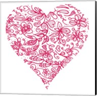 Pink Flower Love Heart Fine-Art Print