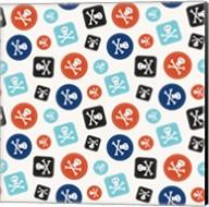 Pirate Badge Pattern Cream Fine-Art Print