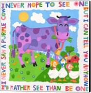 I Never Saw A Purple Cow Fine-Art Print