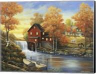 Autumn Sunset At The Old Mill Fine-Art Print