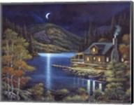 Moonlit Cabin Fine-Art Print