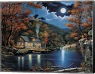 Cabin By The Lake Fine-Art Print
