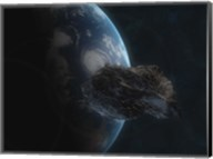 Asteroid in Front of the Earth I Fine-Art Print