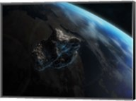 Asteroid in Front of the Earth III Fine-Art Print