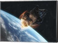 Asteroid in Front of the Earth V Fine-Art Print