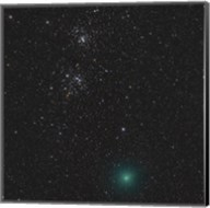 Comet Hartley 2 and the Double Cluster Fine-Art Print