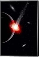 Comet hitting an Alien Planet Fine-Art Print