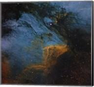 The Pelican Nebula, an H II region in the Constellation Cygnus Fine-Art Print