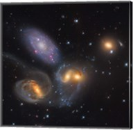 Stephan's Quintet, a grouping of galaxies in the Constellation Pegasus Fine-Art Print