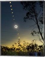 Solar Eclipse composite, Queensland, Australia I Fine-Art Print