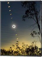 Solar Eclipse composite, Queensland, Australia I Fine-Art Print