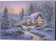 Winter's Blanket Wouldbie Cottage Fine-Art Print