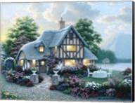 Lakeside Cottage Fine-Art Print