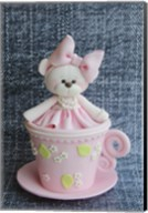 Teddy In Cup Pink Fine-Art Print