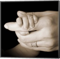 Baby Holding Mother'S Hand Fine-Art Print