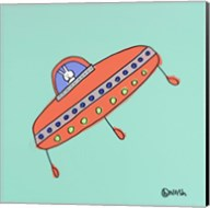 UFO Lala -Teal Fine-Art Print