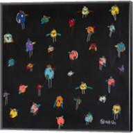 Little Birds - Black Fine-Art Print