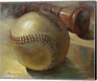 Baseball with Bat Fine-Art Print