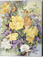Roses With Purple Clematis Fine-Art Print