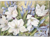 White Tulips/ Blue Iris Fine-Art Print