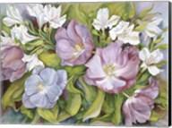 Purple Tulips/ White Alstroneria Fine-Art Print