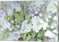 White Tulips And Canterbury Bells Fine-Art Print