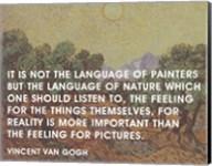 Language of Painters - Van Gogh Quote Fine-Art Print