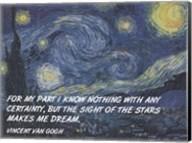 Sight of the Stars - Van Gogh Quote Fine-Art Print