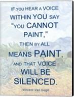If You Hear a Voice - Van Gogh Quote Fine-Art Print