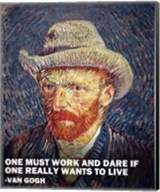 One Must Work -Van Gogh Quote Fine-Art Print