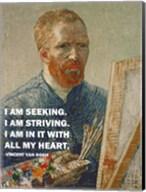 Seeking -Van Gogh Quote Fine-Art Print