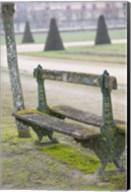 Park Bench in the Gardens, Chateau de Fontainebleau Fine-Art Print