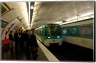 Commuters Inside Metro Station, Paris, France Fine-Art Print