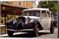 Classic Citroen Avante car, Provence, France Fine-Art Print