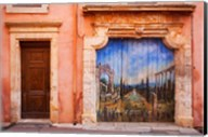 Painted Door in Roussillon, Provence, France Fine-Art Print