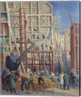 The Construction Site, 1911 Fine-Art Print